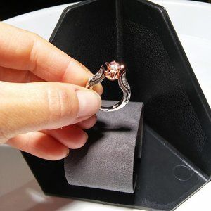 """Women`s marked """"925"""" two tone rose gold/silver 3d"""